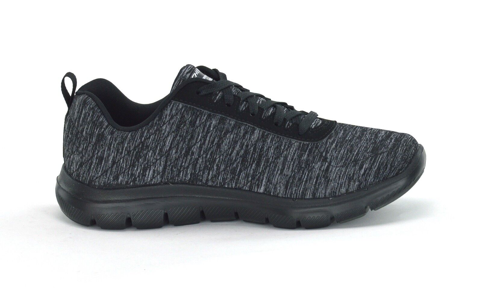 SKECHERS FLEX APPEAL 2.0 - 12753/BKCC - Damenschuhe TRAINERS - BLACK/CHAR - BRAND NEW