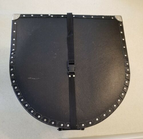 """2 PC SET HARDSHELL Drum Travel Case Securing /""""STRAP BUCKLES/"""" MINT CONDITION"""