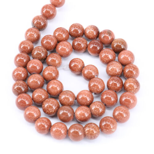 "15/"" or naturelle sable Rond Gem Loose Spacer Beads Strand Bracelet Finding 4-10 mm"