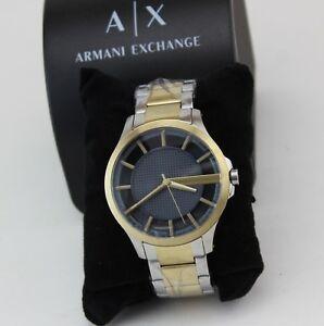 0f9d4dcb739 Image is loading NEW-AUTHENTIC-ARMANI-EXCHANGE-SILVER-GOLD-GREY-HAMPTON-