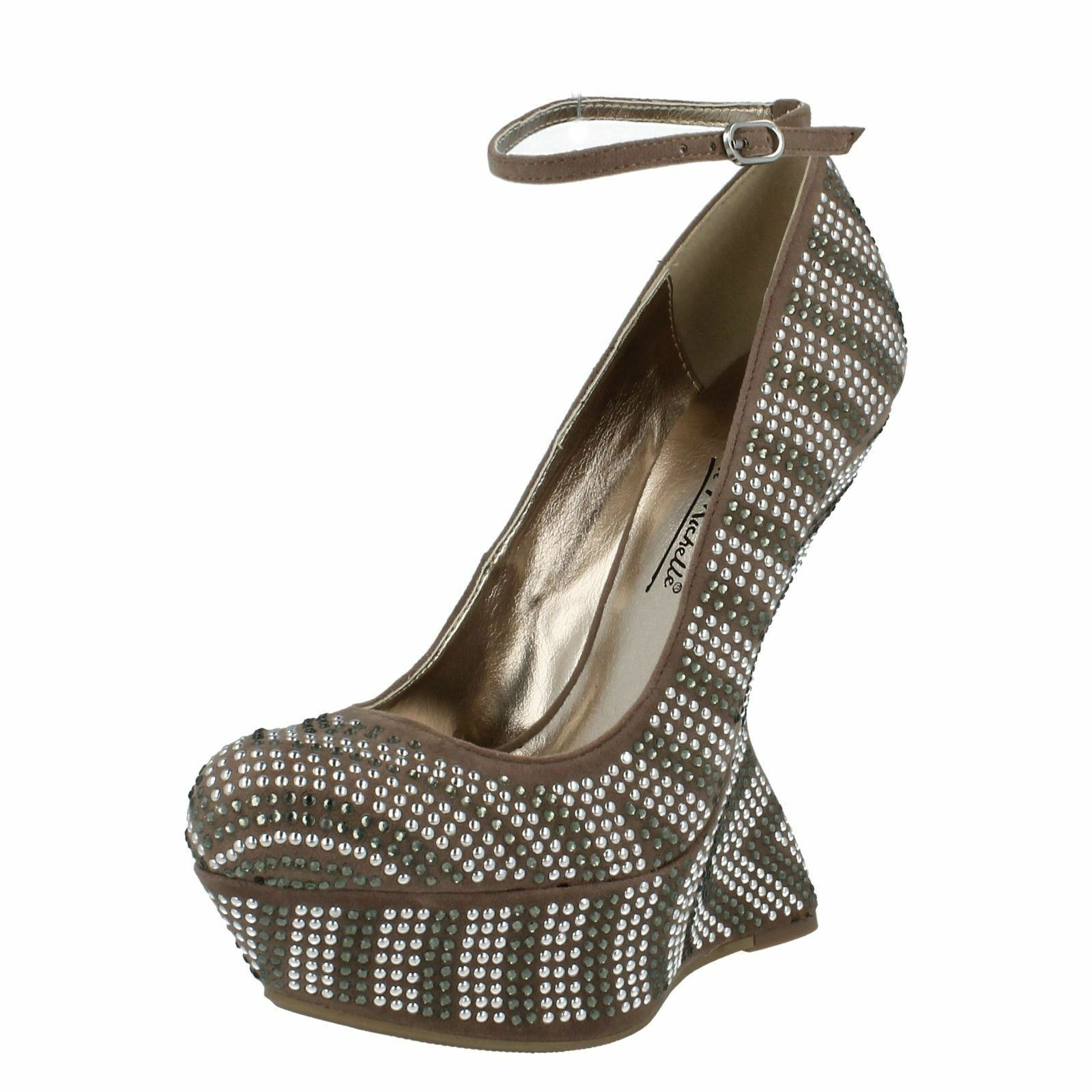 Moda jest prosta i niedroga Anne Michelle L2254 Nude Mujer Zapatos Tacón Alto Diamante (r59b)( Kett )