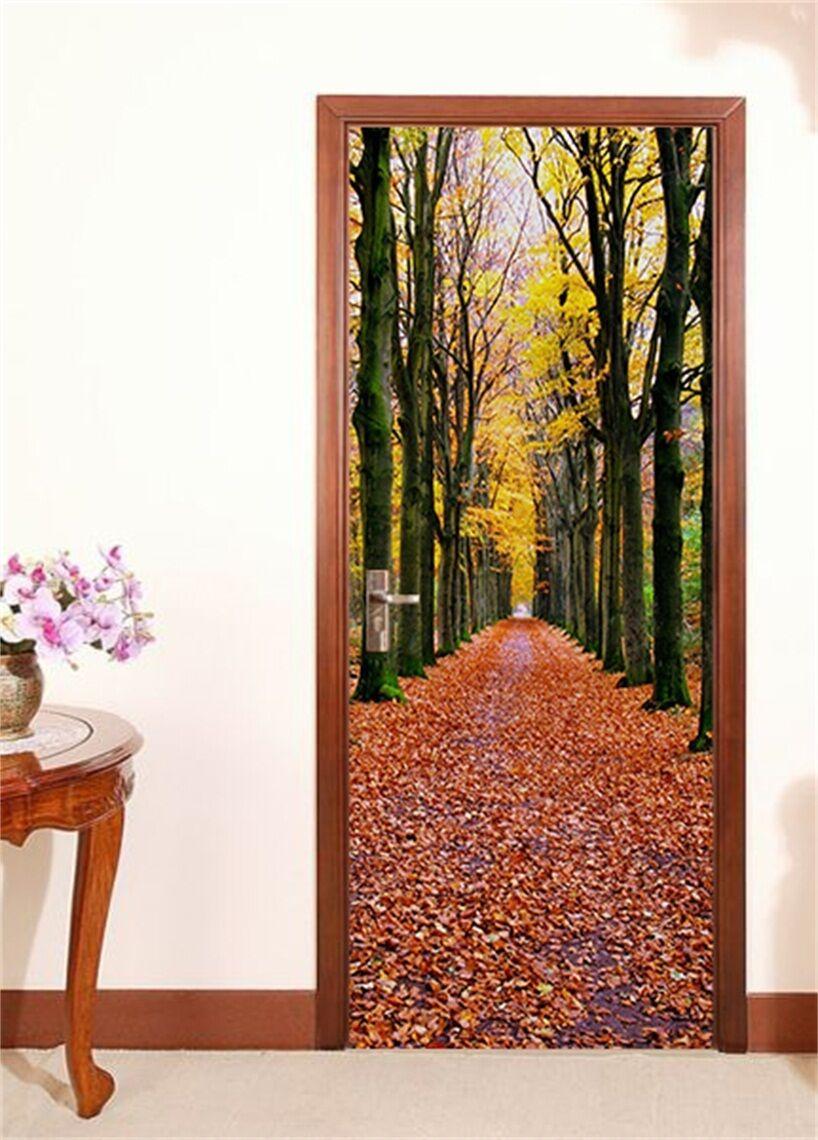 3D Laubbäume 87 Tür Wandmalerei Wandaufkleber Aufkleber AJ WALLPAPER DE Kyra