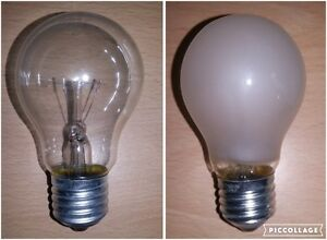Details about 60w Clear Or Frosted/Opal GLS Light Bulb Lamp ES Screw In E27  4 10 50 100 Bulbs