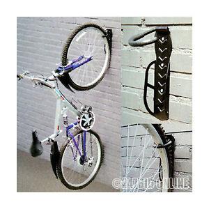 2-x-WALL-MOUNTED-MOUNTABLE-CYCLE-STORAGE-HOOK-BIKE-RACK-SPACE-SAVING-CYCLE-STAND