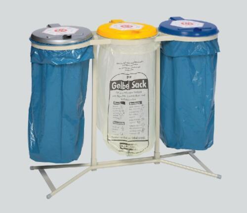 VAR Müllsackhalter Abfallsammler Abfallsack-Halter für 3 Säcke
