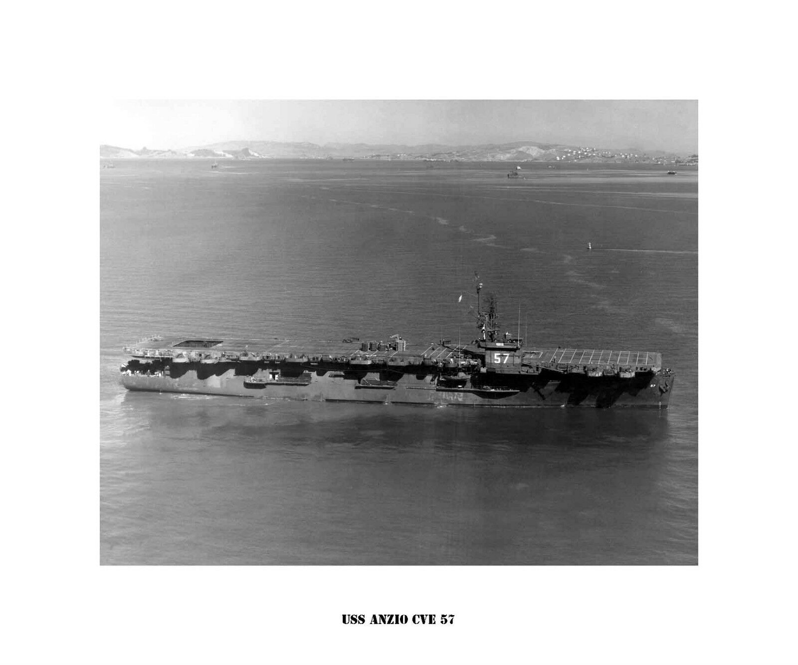 USS ANZIO CVE 57  Naval Ship Photo Print, USN Navy