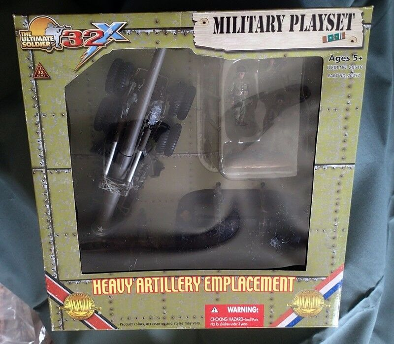 The Ultimate Soldier WWII HEAVY ARTILLERY EMPLACEMENT Military Playset