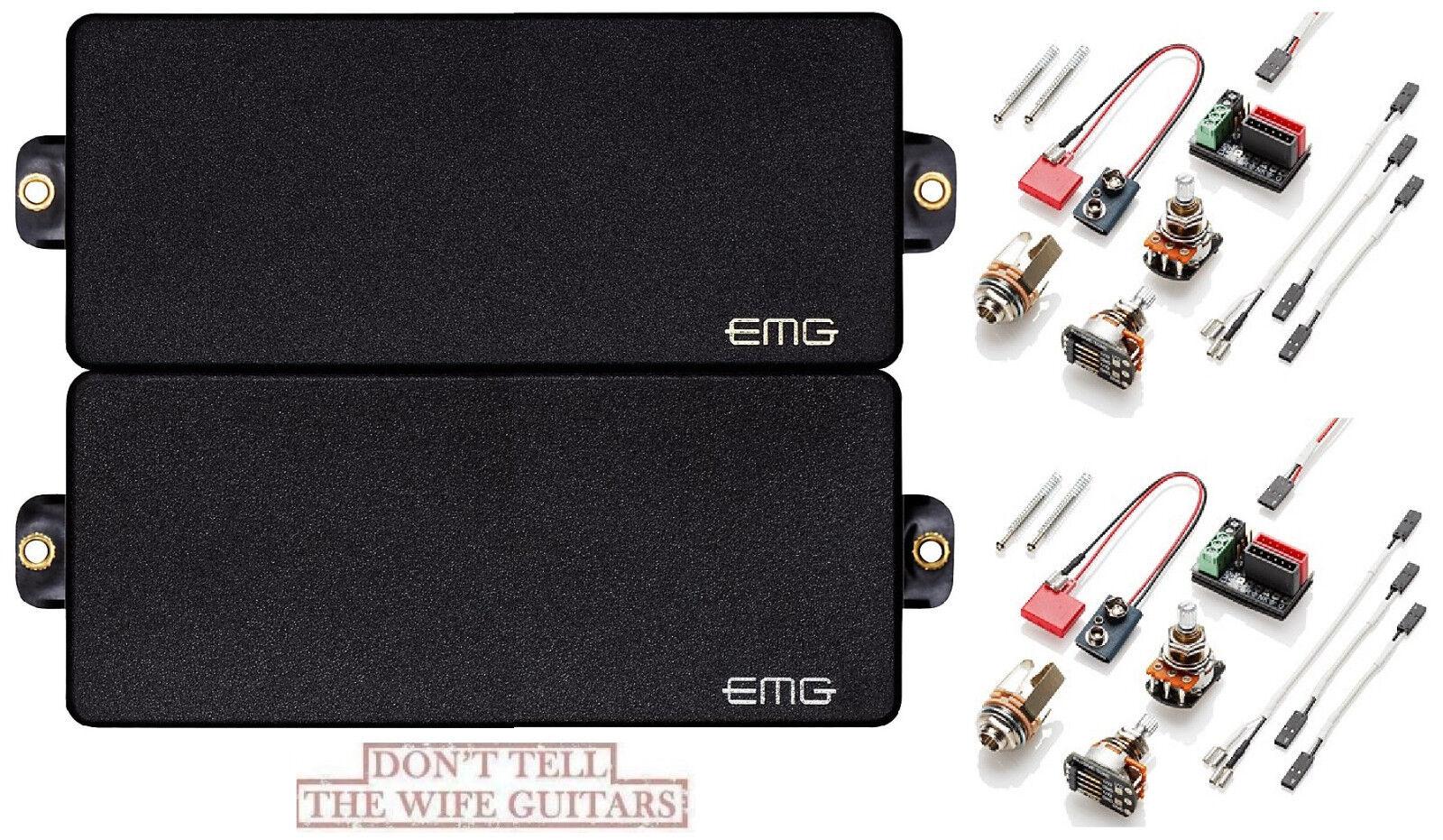 EMG 81-8H + 85-8H schwarz 8 STRING HUMBUCKER VERSION ACTIVE PICKUP POTS & WIRING