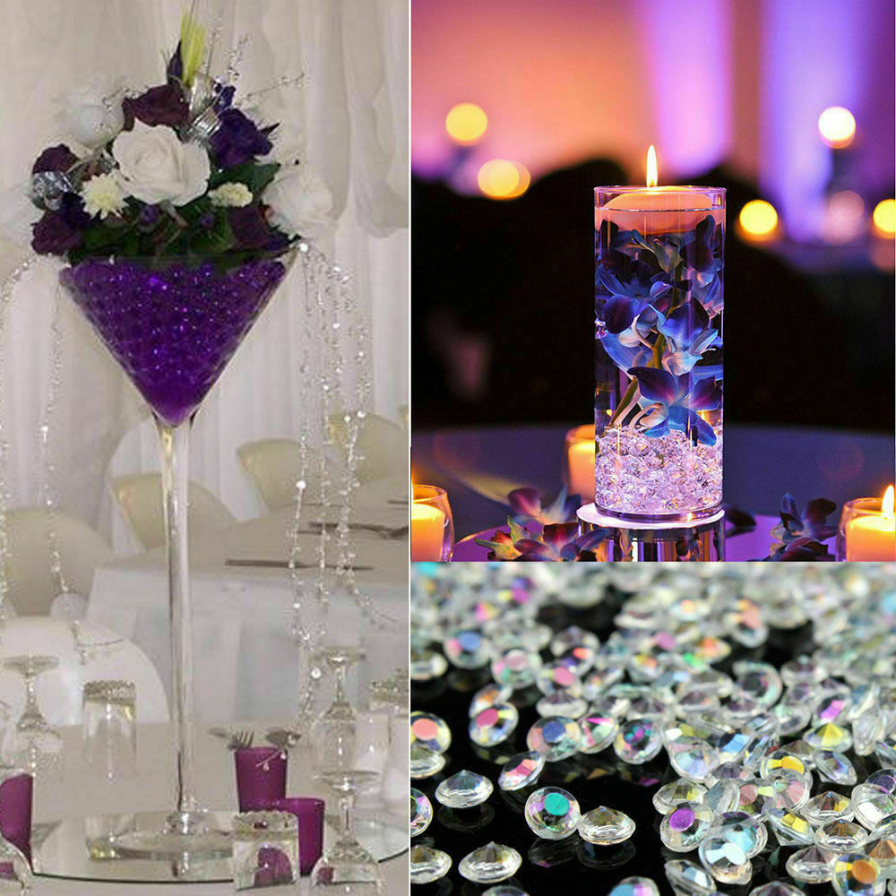 Table Scatter Crystals Confetti Wedding Gems Diamonds Party Decorations