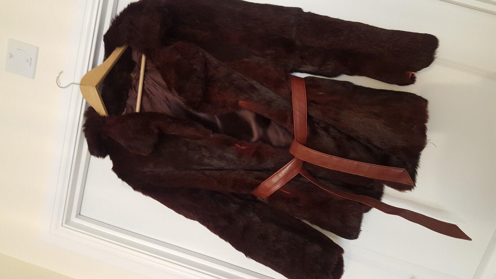 Genuine real fox fur coat
