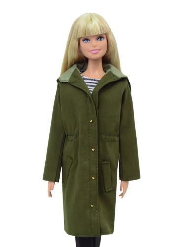 ELENPRIV FA013 military color parka for Barbie Pivotal MTM Poppy Parker dolls