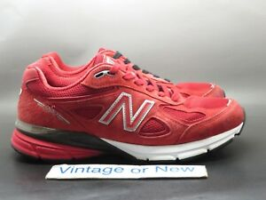 half off 556cc 8ed8f Details about Men's New Balance 990 Red M990RD4 Suede Running Shoes sz 8