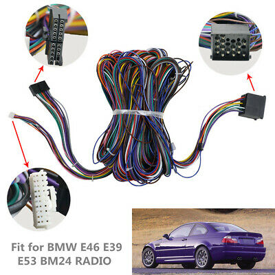 e39 radio wiring fit for bmw e46 e39 extension cable kit e53 bm24 radio wiring  fit for bmw e46 e39 extension cable kit