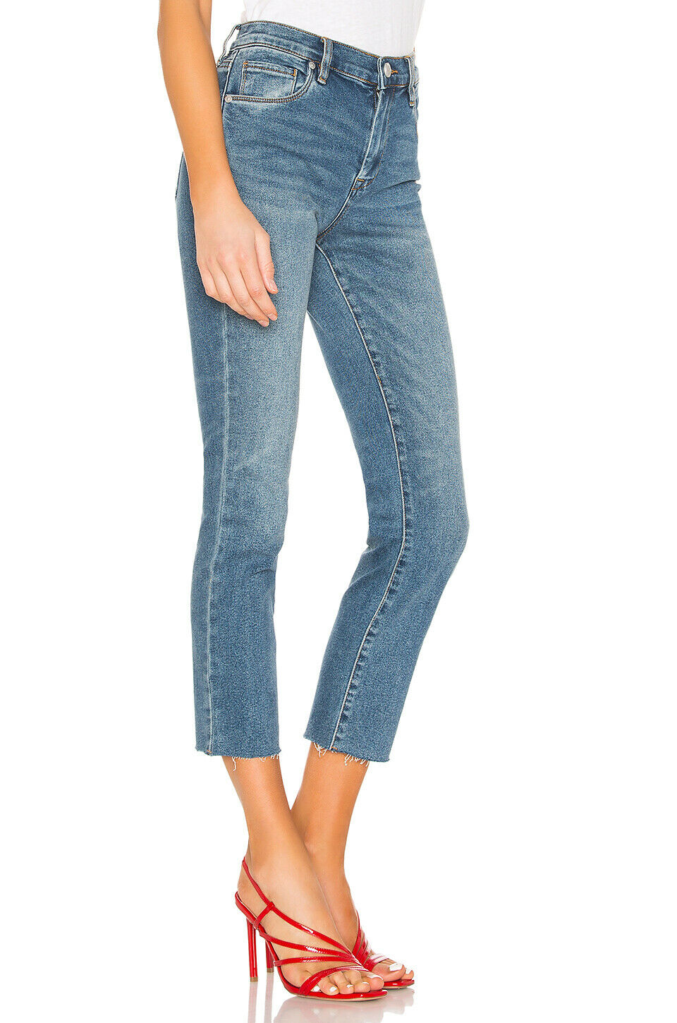 Blank NYC Women's The Madison Raw Hem High-Rise Cropped Jean 26