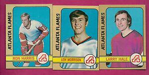 1972-73-TOPPS-FLAMES-HALE-RC-HARRIS-MORRISON-CARD