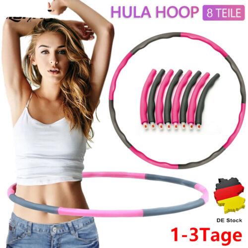 Hula Hoop Fitness Reifen 8-teilig Hüftmassage Sport Massage Gymnastik Plastik