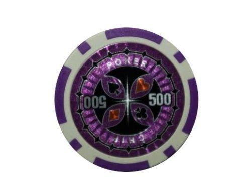 Remplacement Chips Poker Accessoires valeur 500 Violet 12 g 100 Laser jetons de poker