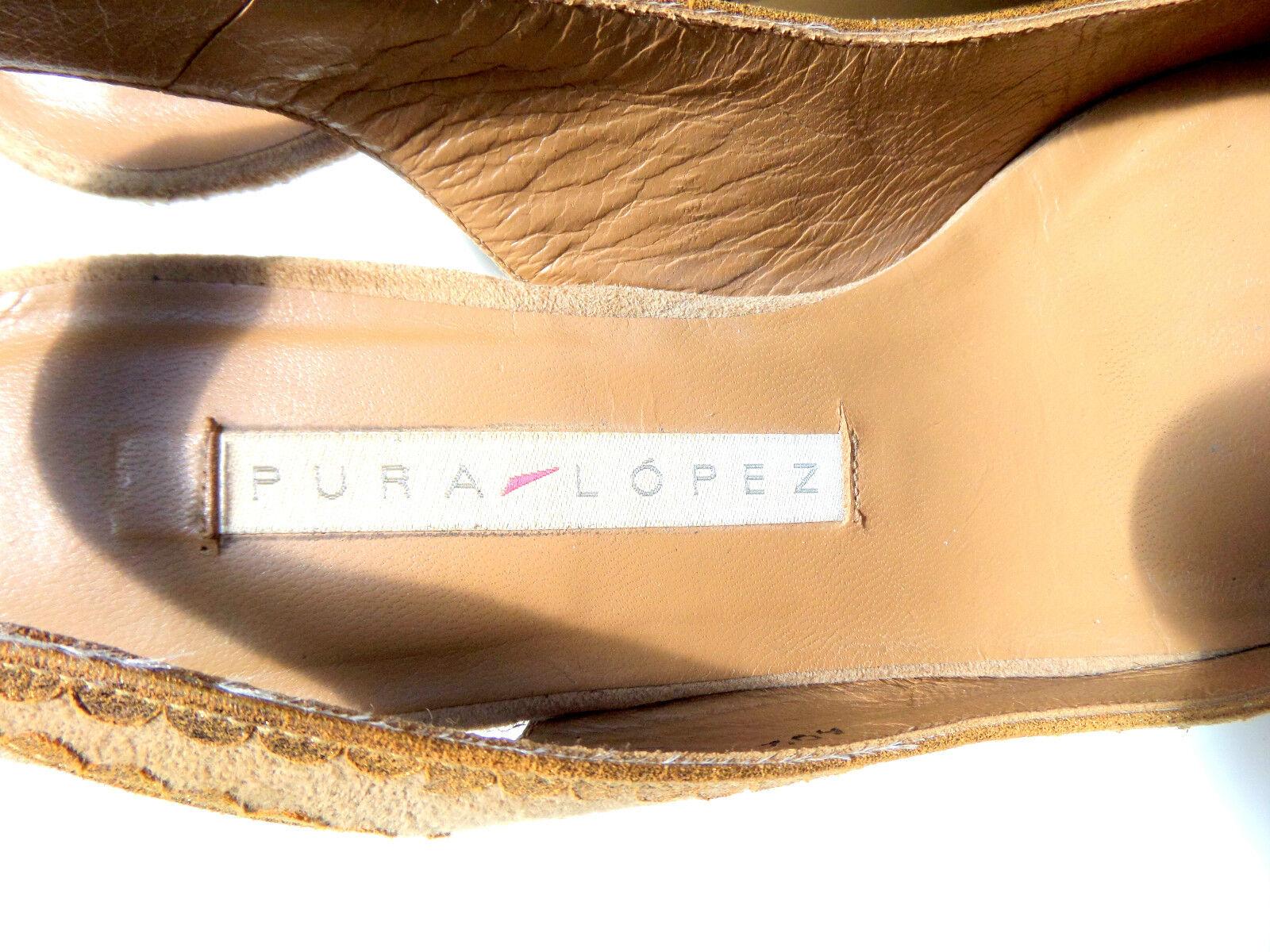 T O P Orig PURA LOPEZ Wild Rau Leder Leder Leder Damen Pump Art. in Gr 37 e v t 37.5 Sand Be 5ac902