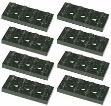 Grey part no 3709b 10x Technic Lego Plate 2 x 4 with Holes in Dk Stone