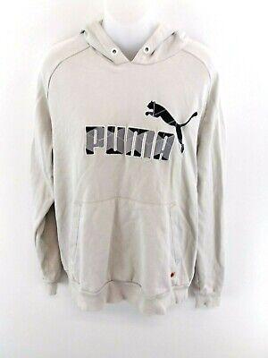 Puma Mens Hoodie Jumper M Medium Grey Cotton & Polyester