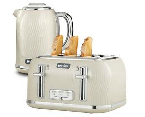 Breville Flow Kitchen Electric Kettle /& Toaster Set 4 Slice Fast Boil 3KW Toast