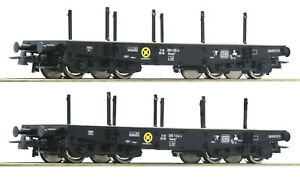 Roco-H0-76080-Schwerlastwagen-Set-034-Bauart-Rlmmp-034-der-DB-034-Neuheit-2019-034-NEU-OVP