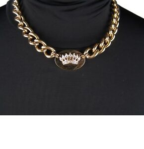 Authentic-Juicy-Couture-Pave-Crown-ID-Necklace-New-Gift-Box-Pouch