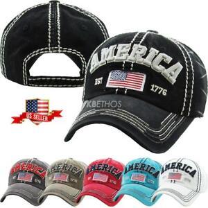 Vintage-Distressed-Hat-Baseball-Cap-AMERICA-KBETHOS