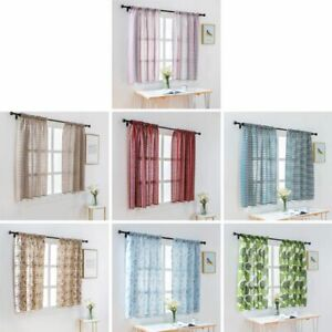 Short Window Curtains D Panel Blinds Voile Valances Curtain