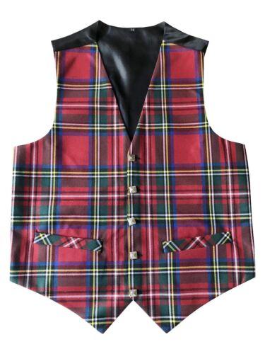 Mens Royal Stewart Tartan Waistcoat