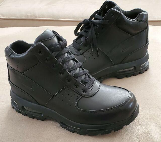 Nike Air Max Goadome Boots Mens Triple Black Leather 599474-050 Sneaker  Mismatch