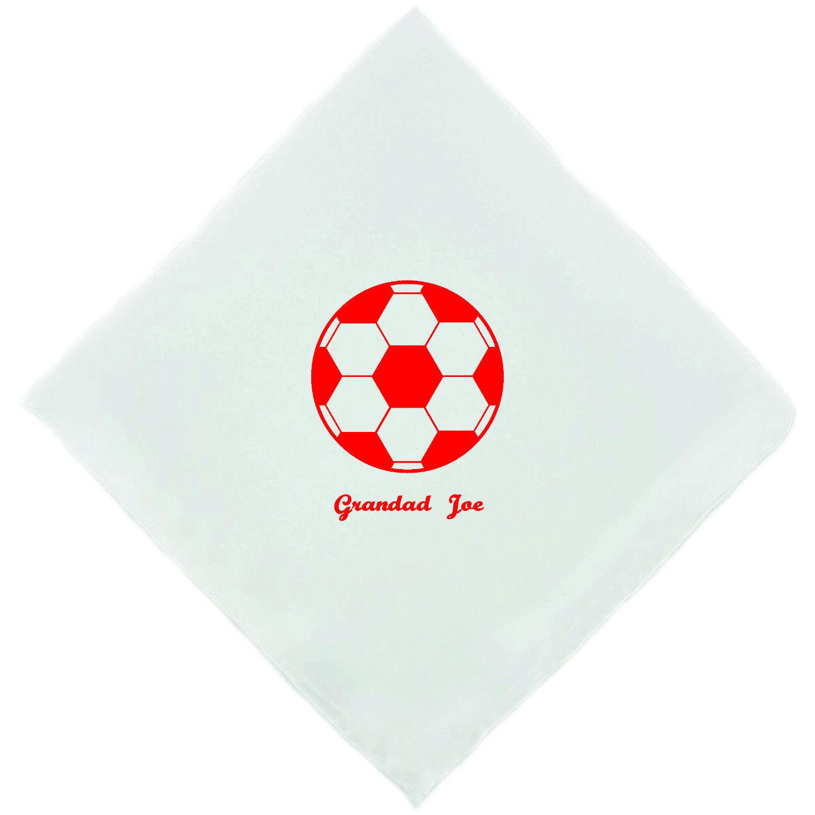 Personalised Football Red Novelty Handkerchief Christmas Birthday Gift