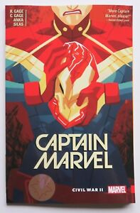 2 Marvel Graphic Novel Comic Book Captain Marvel Civil War II Vol