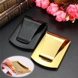Stainless-steel-Slim-Double-Sided-Money-Clip-Credit-Card-Holder-Wallet
