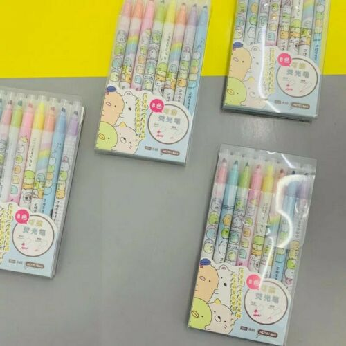 New Sumikko Gurashi Kawaii Erasable Highlighter Stationary Pack