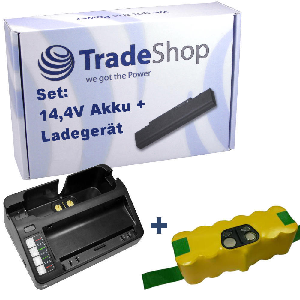 AKKU 3500mAh + LADEGERÄT für iRobot Roomba 80501 R3 APS 500 Staubsauger
