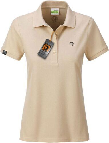 JAN 8009 Bio Baumwolle Basic Polo Shirt Damen Organic COMPANIEER Beige Stone ...