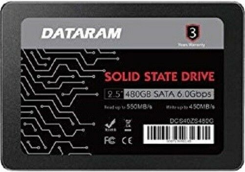 DATARAM 480GB 2.5 SSD Drive Solid State Drive Compatible with ASUS Prime A320M-C R2.0