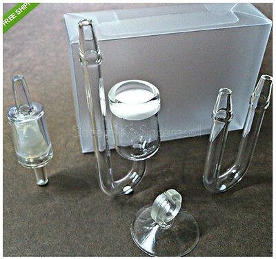 Aquarium nano Glass CO2 Diffuser Suction cup + Check Valve + pipe bending set