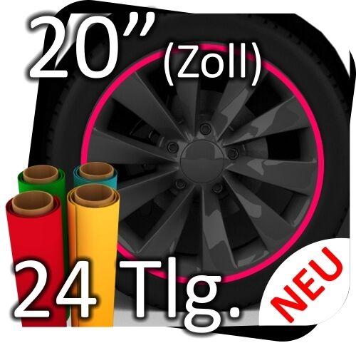 """20/"""" llantas pegatinas llantas pegatinas llantas de Motorsport borde pegatinas 24tlg nº 3"""