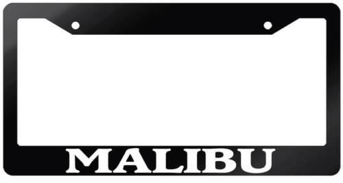 Glossy Black License Plate Frame MALIBU Auto Accessory 1581