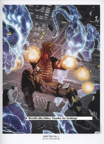 "DC Comics New 52  GRIFTER #1 Ltd Edition Art Print by CAFU 9/""x12/"""