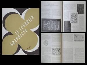 Le Courrier Graphique N°70 1954 Josso, Paul Bonet, Lahner, Jean De Tournes Ni Trop Dur Ni Trop Mou