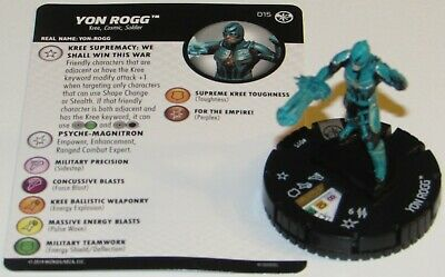 YON ROGG 015 Captain Marvel Movie Marvel HeroClix Rare