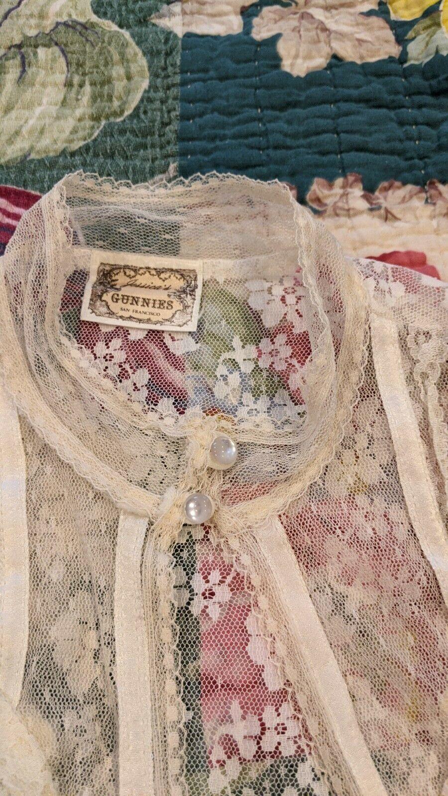 Gunne Sax vintage lace Jacket - image 2