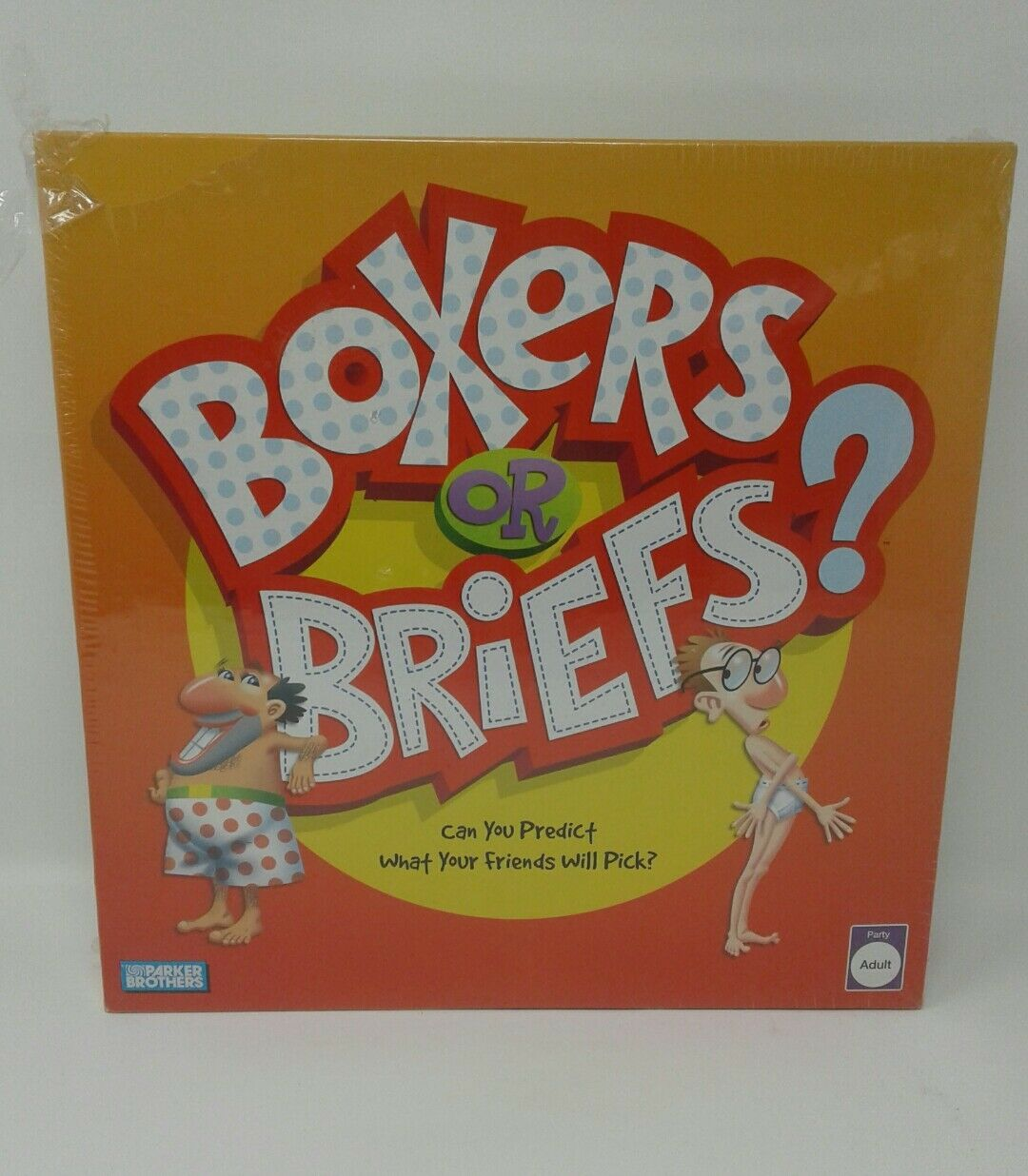 Parker Bros. Adult Humor Boxer or Briefs Party Trivia Question Cards Board Game