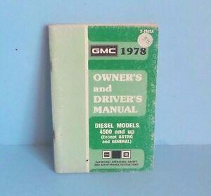 78 1978 gmc 4500 5500 6500 7500 diesel models owners manual ebay rh ebay ie G4500 CPUID G4500 CPUID