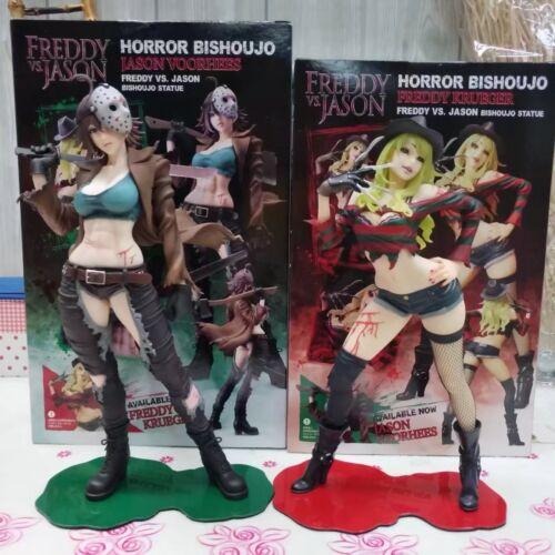 "Jason Bishoujo Horror Freddy Jason 2nd Edition 10/"" PVC Statue Figure Freddy vs"