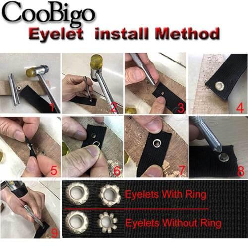 100X Metal Eyelets Hole 4.5mm Leathercraft DIY Scrapbooking Shoes Boots Belt Tag