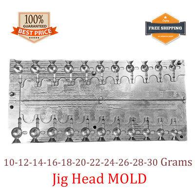 Fishing JigHead Mold Lead Jig Head Sinker Weights 8 cavity 1-8 G